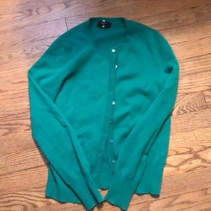 Cashmere cardigan - green / size small